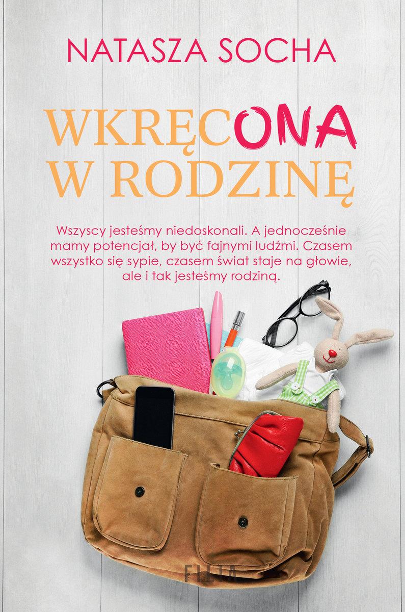 """Natasza Socha - """"Wkręcona w rodzinę"""" - okładka książki"""
